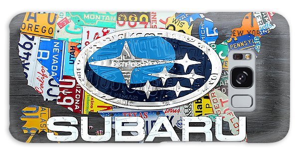 America Map Galaxy Case - Subaru License Plate Map Sales Celebration Limited Edition 2013 Art by Design Turnpike
