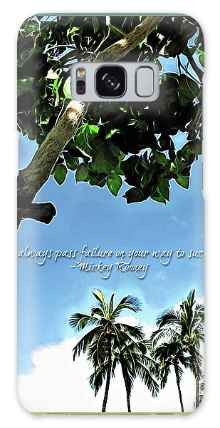 Success And Failure Botanical Inspiration Galaxy Case