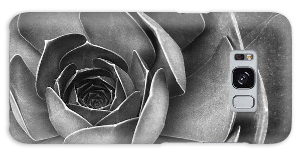 Succulent In Black And White Galaxy Case