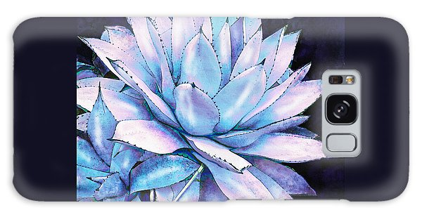 Succulent In Blue And Purple Galaxy Case by Jane Schnetlage