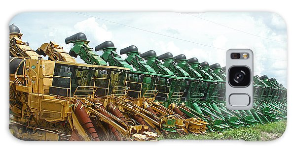 Sugar Cane Harvesters Galaxy Case by Ronald Olivier