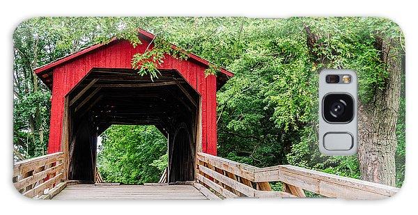 Sugar Creek Covered Bridge Galaxy Case by Sue Smith
