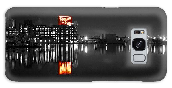 Sugar Glow - Classic Iconic Domino Sugars Neon Sign, Inner Harbor Baltimore, Maryland - Color Splash Galaxy Case