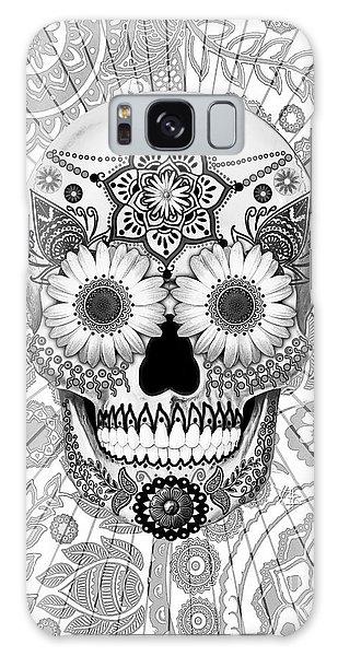 Sugar Skull Bleached Bones - Copyrighted Galaxy Case by Christopher Beikmann