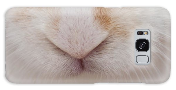 sugar the easter bunny 1 -A curious and cute white rabbit close up Galaxy Case