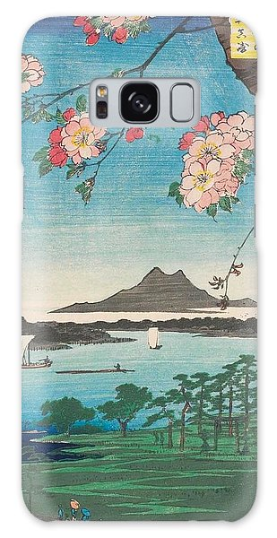Hundred Galaxy Case - Suijin Shrine And Massaki On The Sumida River by Utagawa Hiroshige