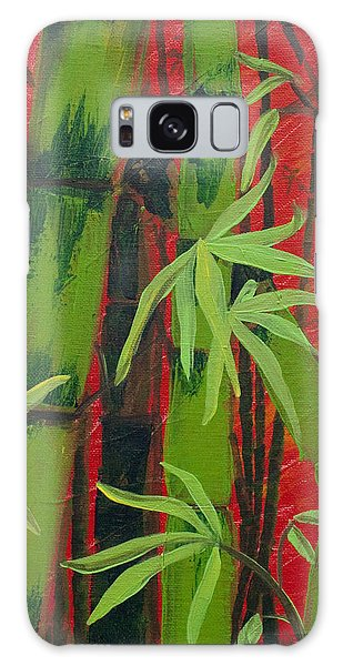 Sultry Bamboo Forest Acrylic Painting Galaxy Case