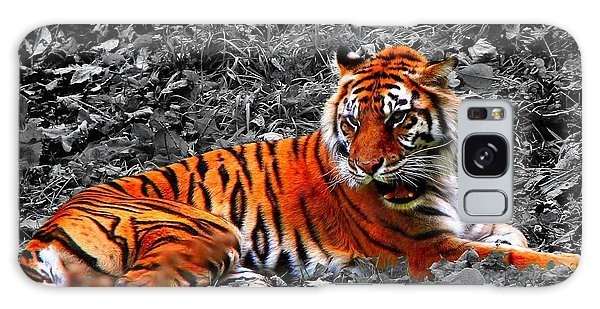 Sumatran Tiger Galaxy Case by Davandra Cribbie