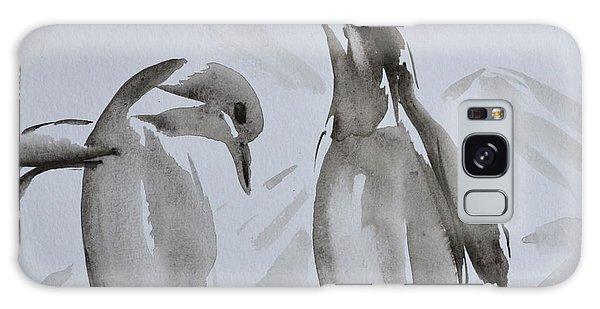 Sumi-e Penguin Dance Galaxy Case