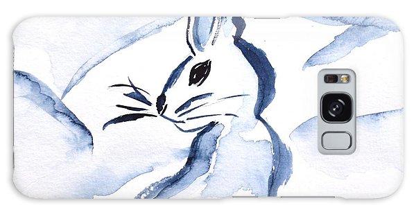 Sumi-e Snow Bunny Galaxy Case