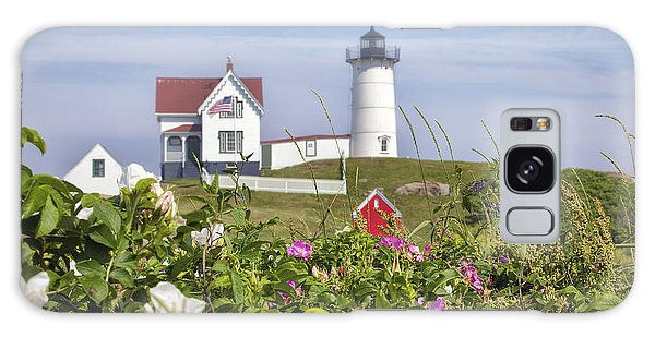 Summer At Nubble Light Galaxy Case
