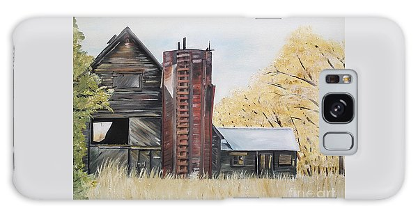 Golden Aged Barn -washington - Red Silo  Galaxy Case