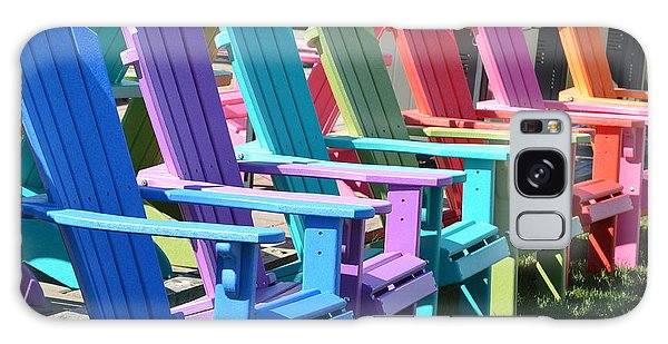 Summer Beach Chairs Galaxy Case by Jeannie Rhode