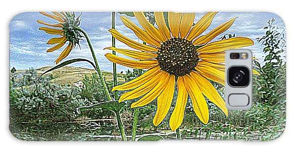 Summer By The Pond Galaxy Case