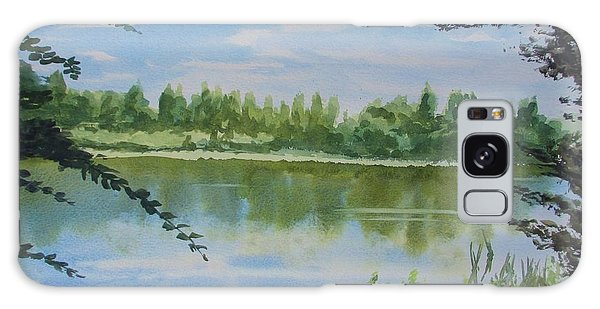 Summer By The River Galaxy Case by Martin Howard