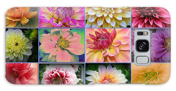 Summer Time Dahlias Galaxy Case by Dora Sofia Caputo Photographic Art and Design