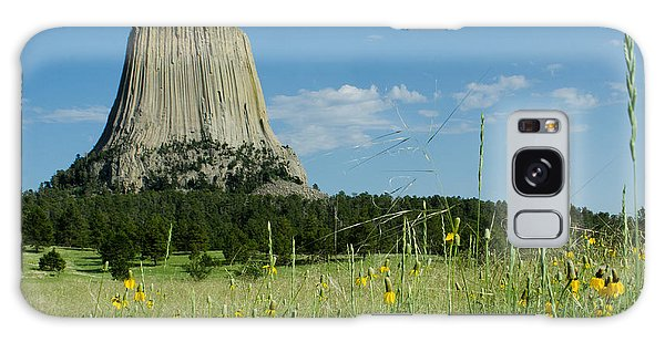 Summer Day At Devils Tower Galaxy Case