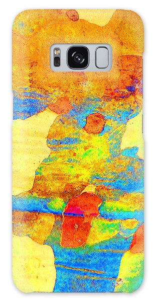 Summer Eucalypt Abstract 25 Galaxy Case by Margaret Saheed