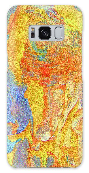 Summer Eucalypt Abstract 3 Galaxy Case by Margaret Saheed