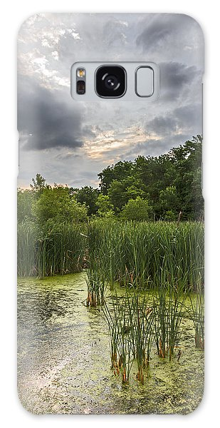 Summer Evening Clouds Galaxy Case