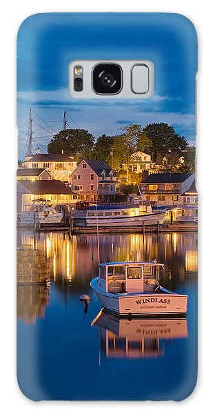 Summer Evening On Boothbay Harbor Galaxy Case