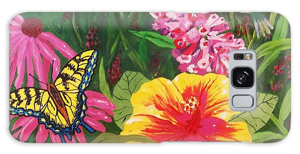 Summer Garden Galaxy Case by Ellen Levinson