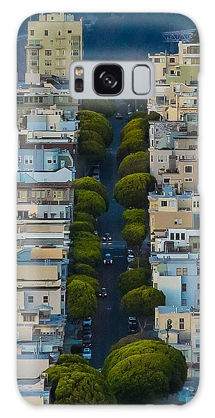 Summer Green On Lombard Street Galaxy Case