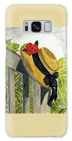 Summer Hat Galaxy Case by Angela Davies
