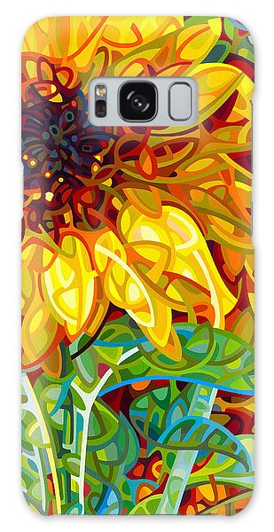 Sunflower Galaxy S8 Case - Summer In The Garden by Mandy Budan