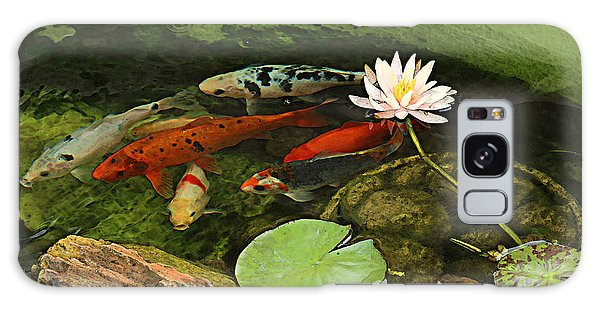 Summer Koi And Lilly Galaxy Case