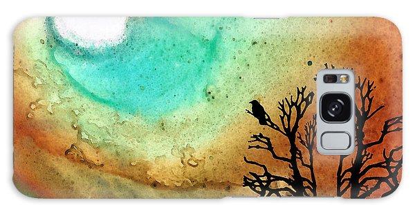 Summer Moon - Landscape Art By Sharon Cummings Galaxy Case by Sharon Cummings