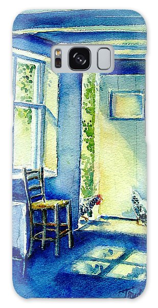 Summer Morning Visitors  Galaxy Case by Trudi Doyle
