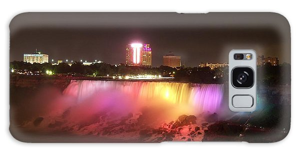 Summer Night In Niagara Falls Galaxy Case