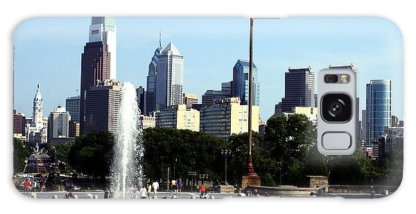 Summer Philly Skyline Galaxy Case by Christopher Woods