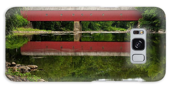 Summer Reflections At West Cornwall Covered Bridge Galaxy Case
