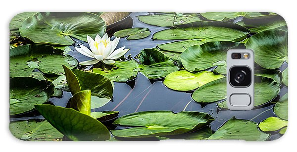 Summer Water Lily 1 Galaxy Case by Susan Cole Kelly Impressions
