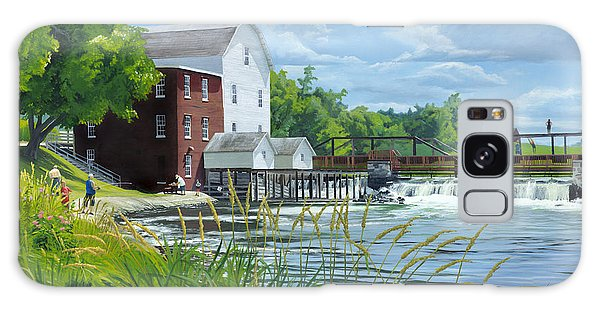 Summertime At The Old Mill Galaxy Case