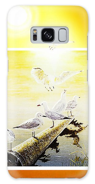 Sun Birds Galaxy Case by Hartmut Jager