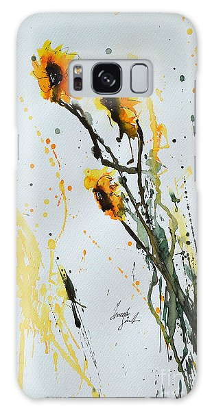 Sun-childs- Flower Painting Galaxy Case by Ismeta Gruenwald