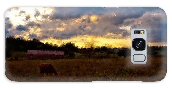 Sun Down On The Farm Galaxy Case by Ken Frischkorn