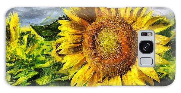 Sunflower Drawing  Galaxy Case