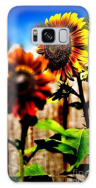 Sun Flowers Galaxy Case by Randall  Cogle