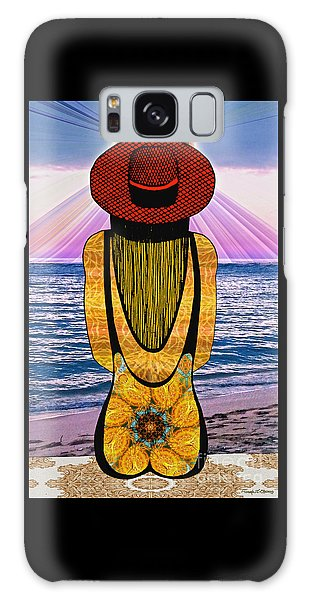 Sun Girl's Back Galaxy Case