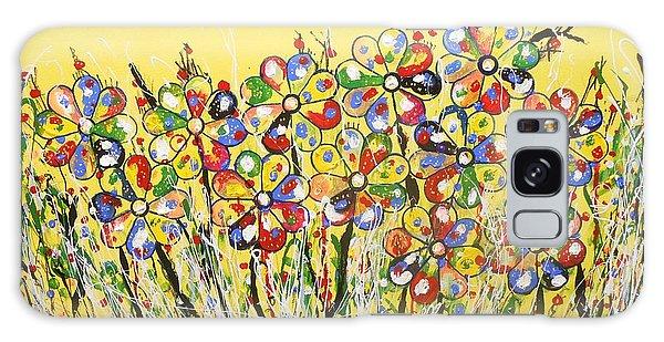 Sun-kissed Flower Garden Galaxy Case