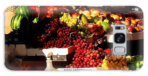 Sun On Fruit Close Up Galaxy Case by Miriam Danar