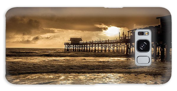 Sun Over The Pier Galaxy Case by Steven Reed
