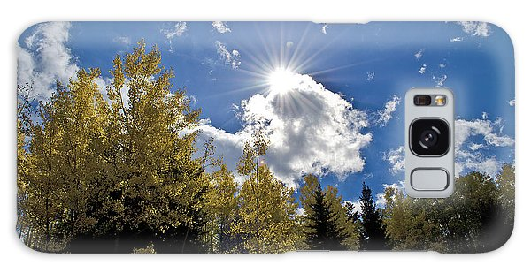 Sun Rays Across Colorado Mountain Galaxy Case