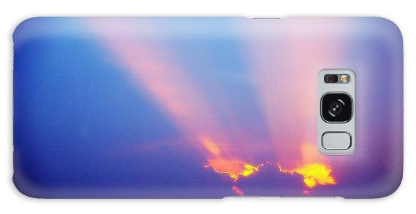 Sun Rays At Sunset Galaxy Case