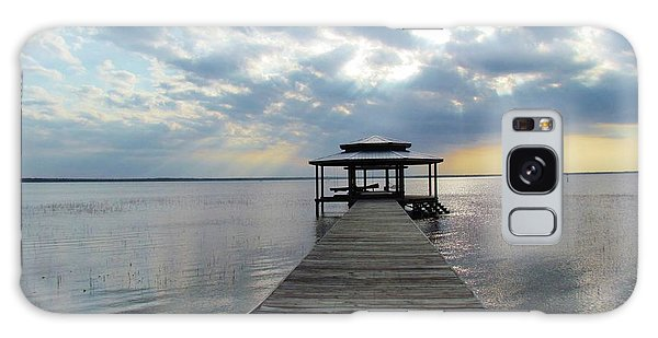 Sun Rays On The Lake Galaxy Case by Cynthia Guinn