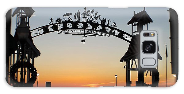 Sun Reflecting On Clouds Ocean City Boardwalk Arch Galaxy Case